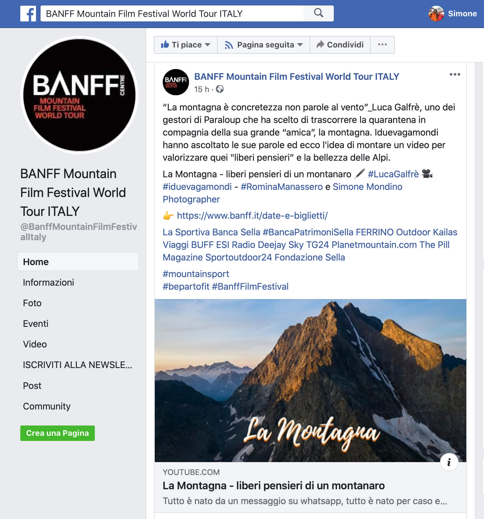 Banff film festival Italia - La Montagna